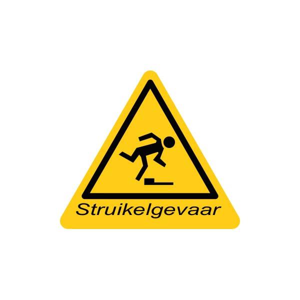 Valbeveiliging dak | Sticker struikelgevaar | Nedersafe