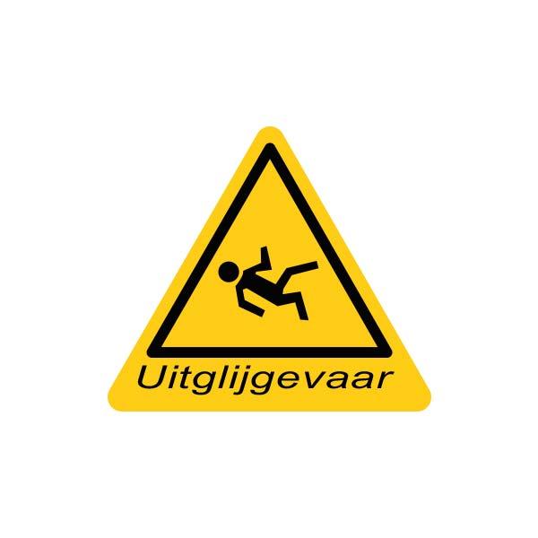 Valbeveiliging dak | Sticker uitglijgevaar | Nedersafe