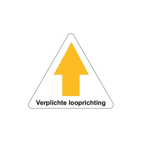 Valbeveiliging dak | Sticker verplichte looprichting | Nedersafe